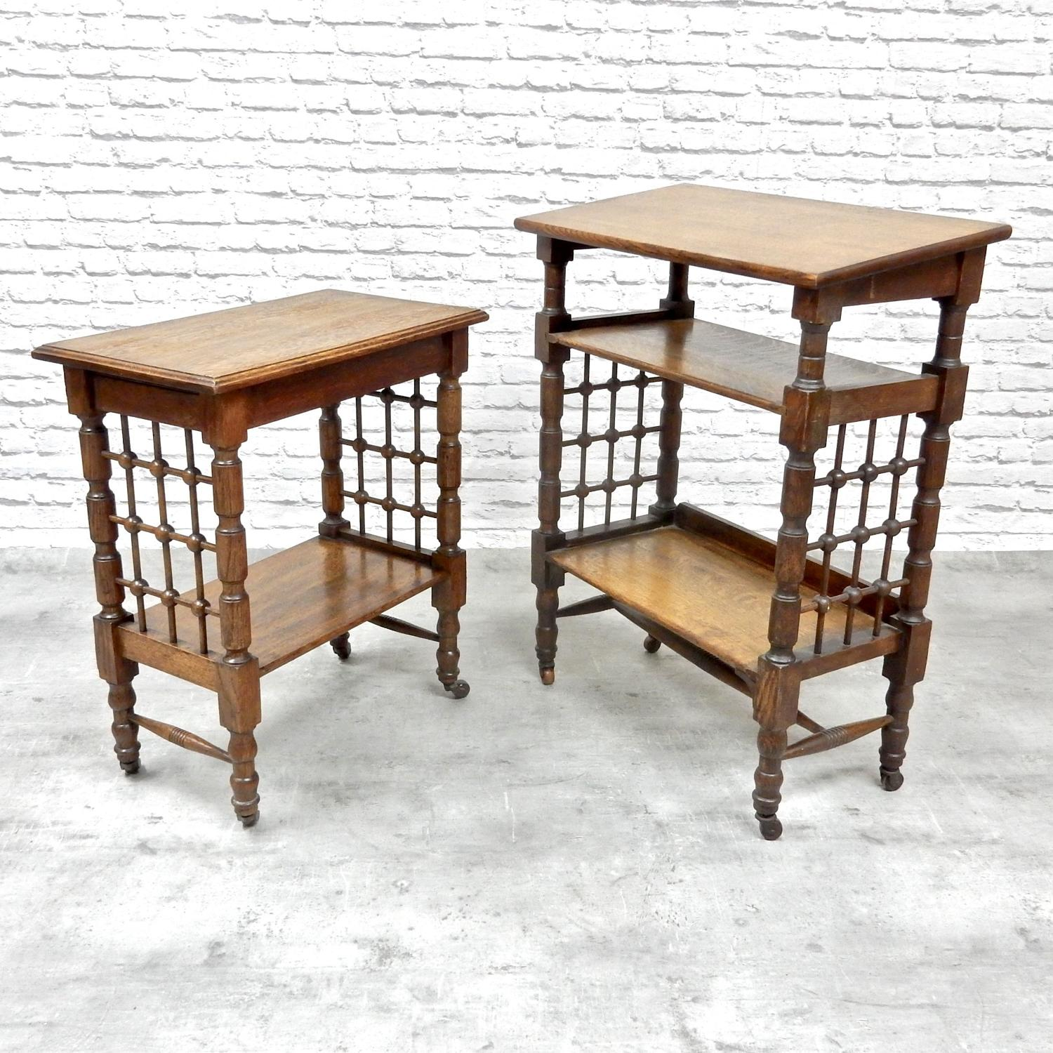 2x Oak Bookstands for Liberty Co