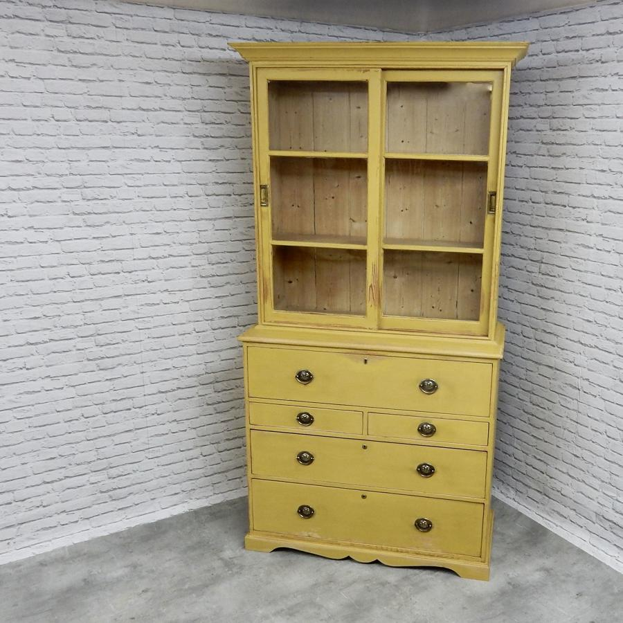 Pine Secretaire Bookcase