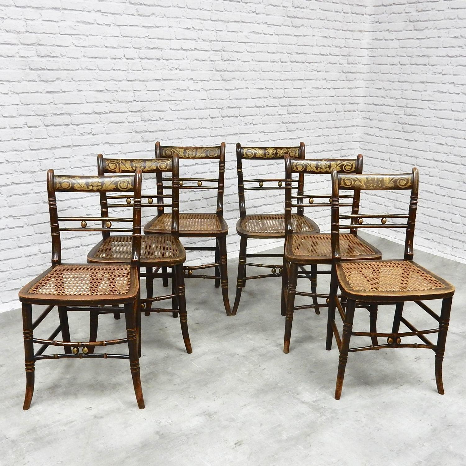 Painted Side Chairs x6