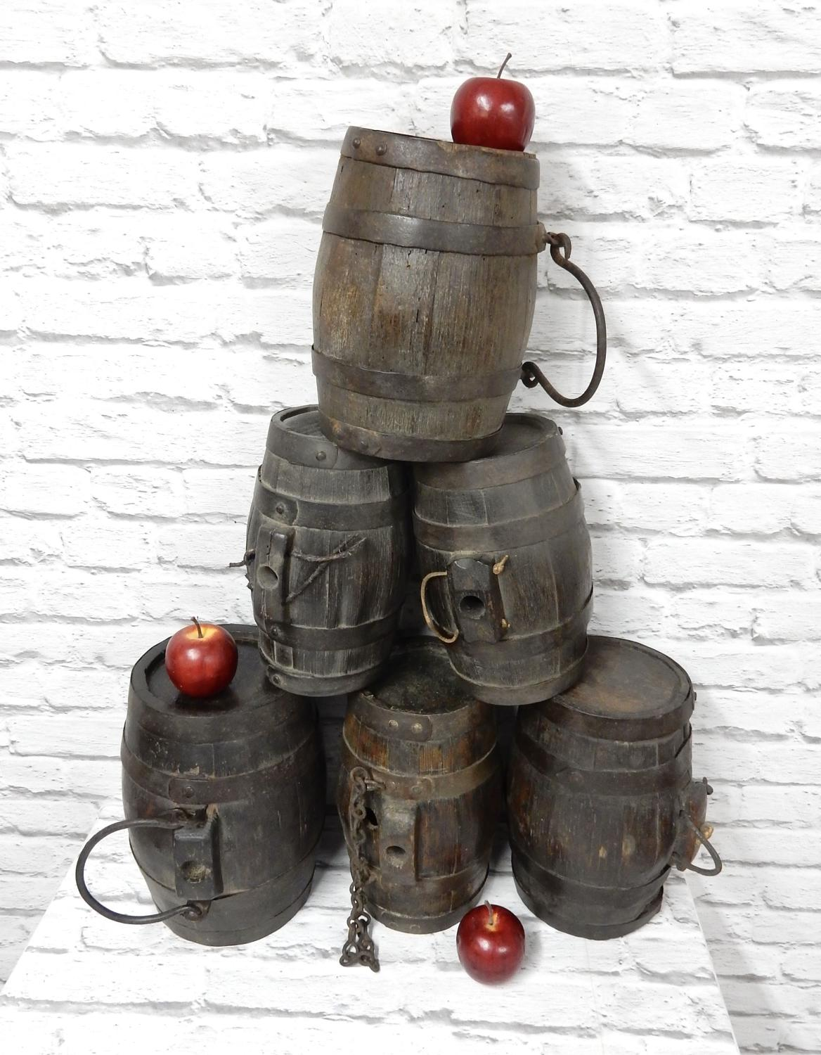 Collection of 6 Cider Costrels