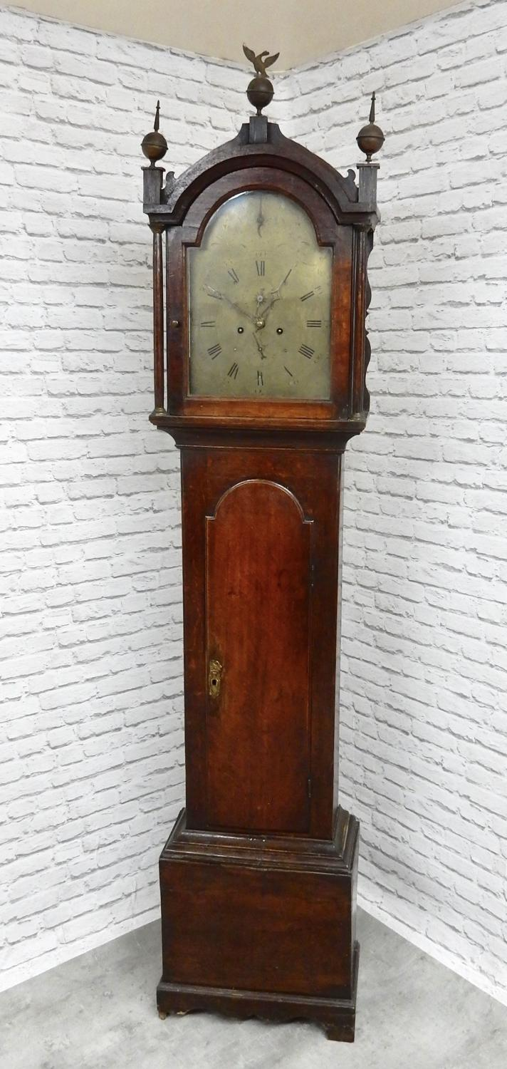 Oak Longcase Grandfather Clock
