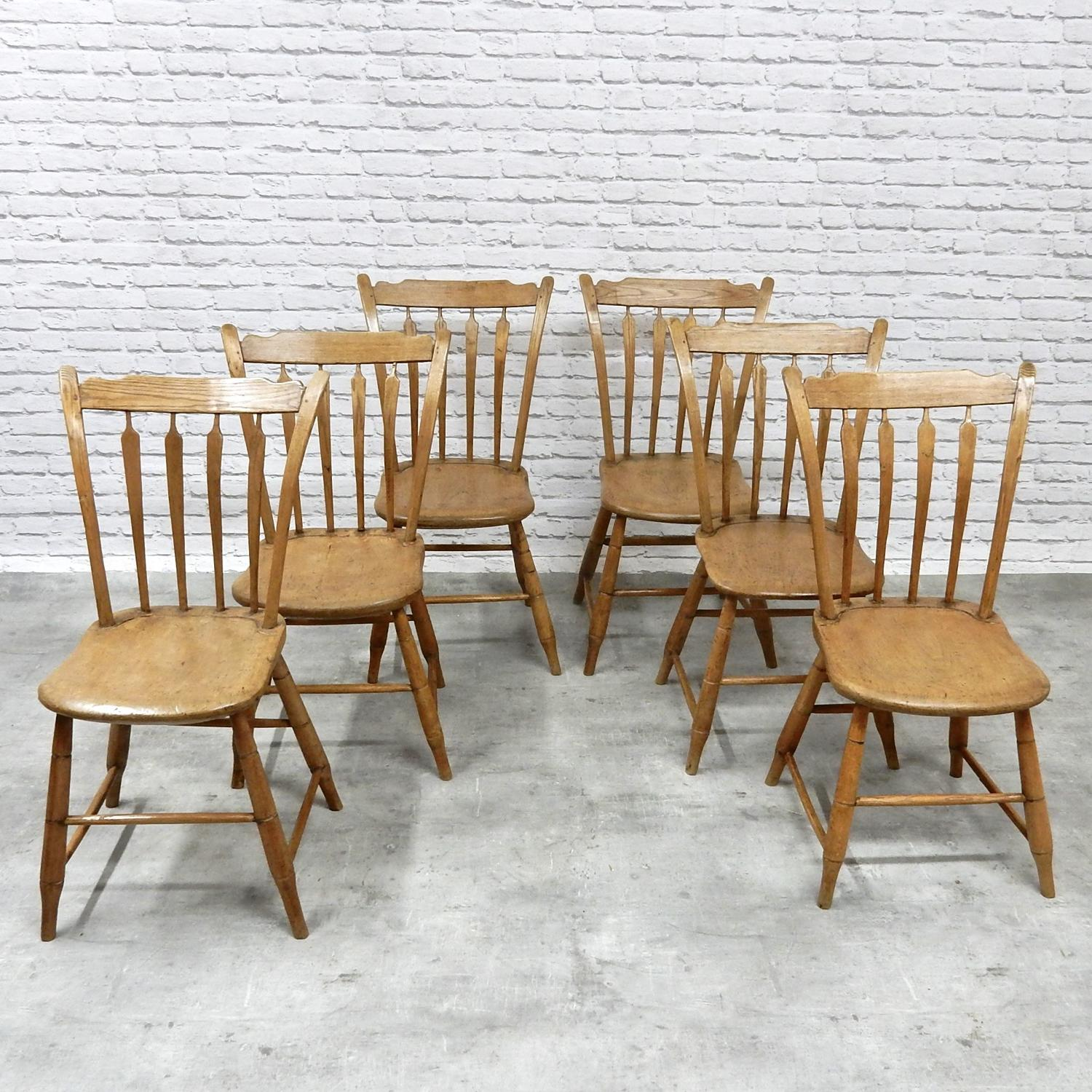 C19th American Chairs x6