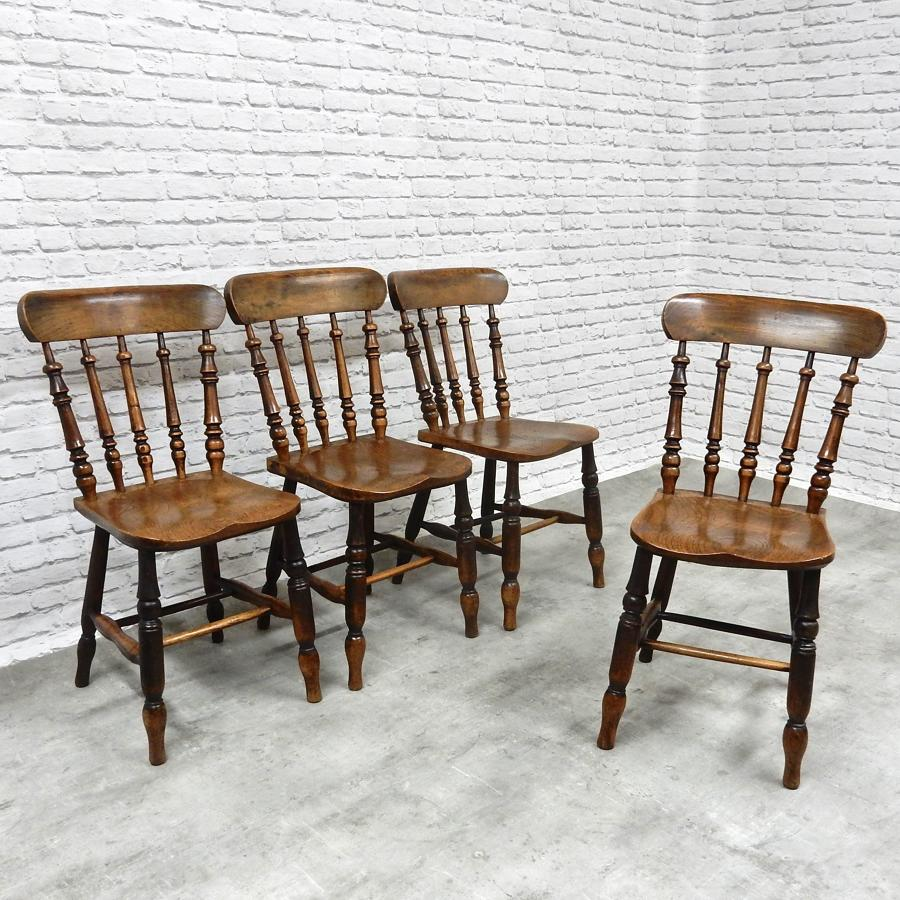 C19th Windsor Kitchen Chairs