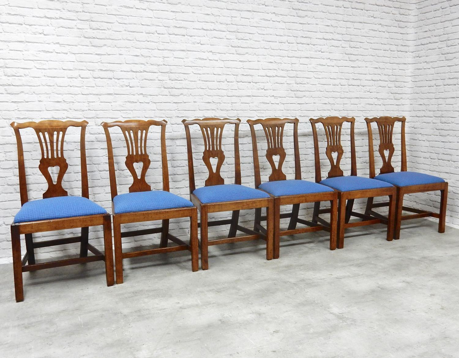 Antique Fruitwood Dining Chairs