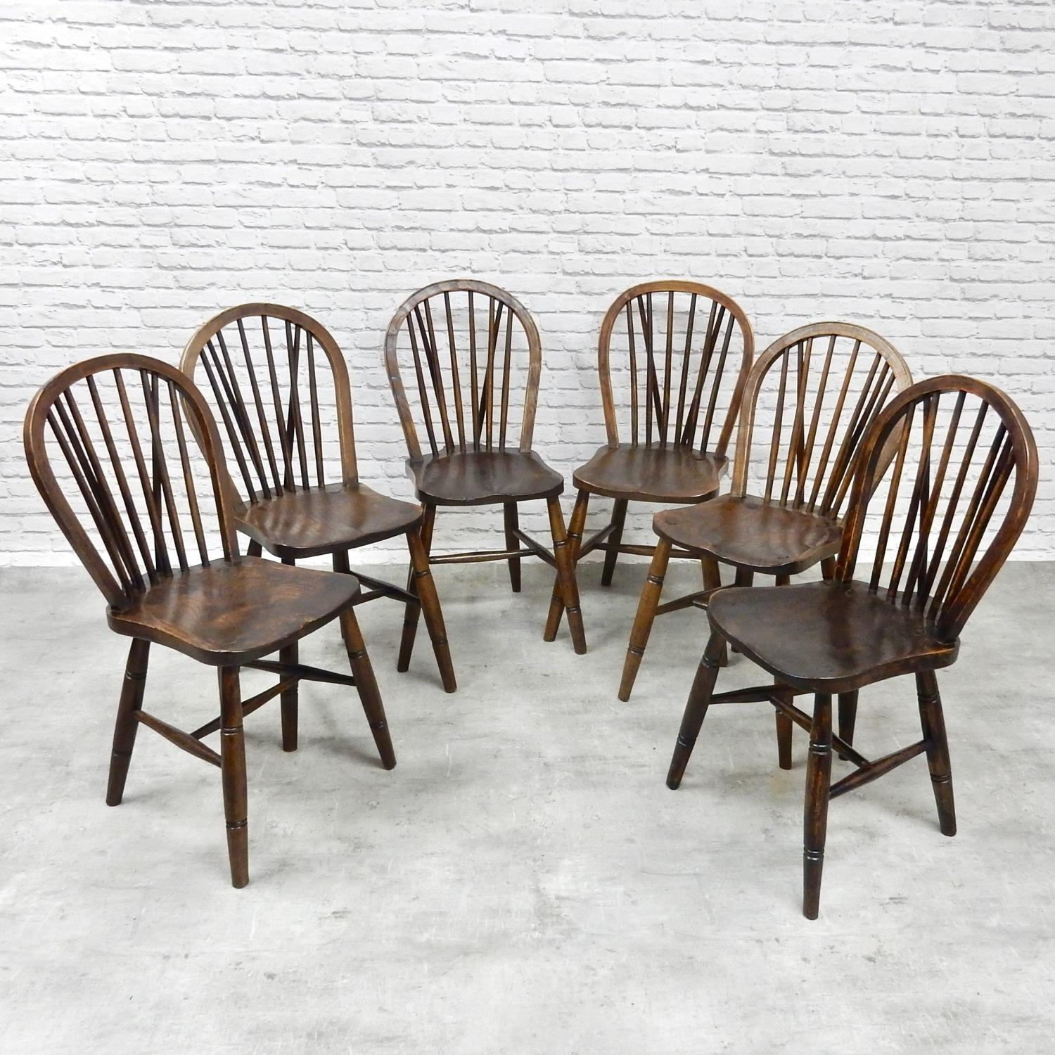 Set 6 Windsor Kitchen Chairs