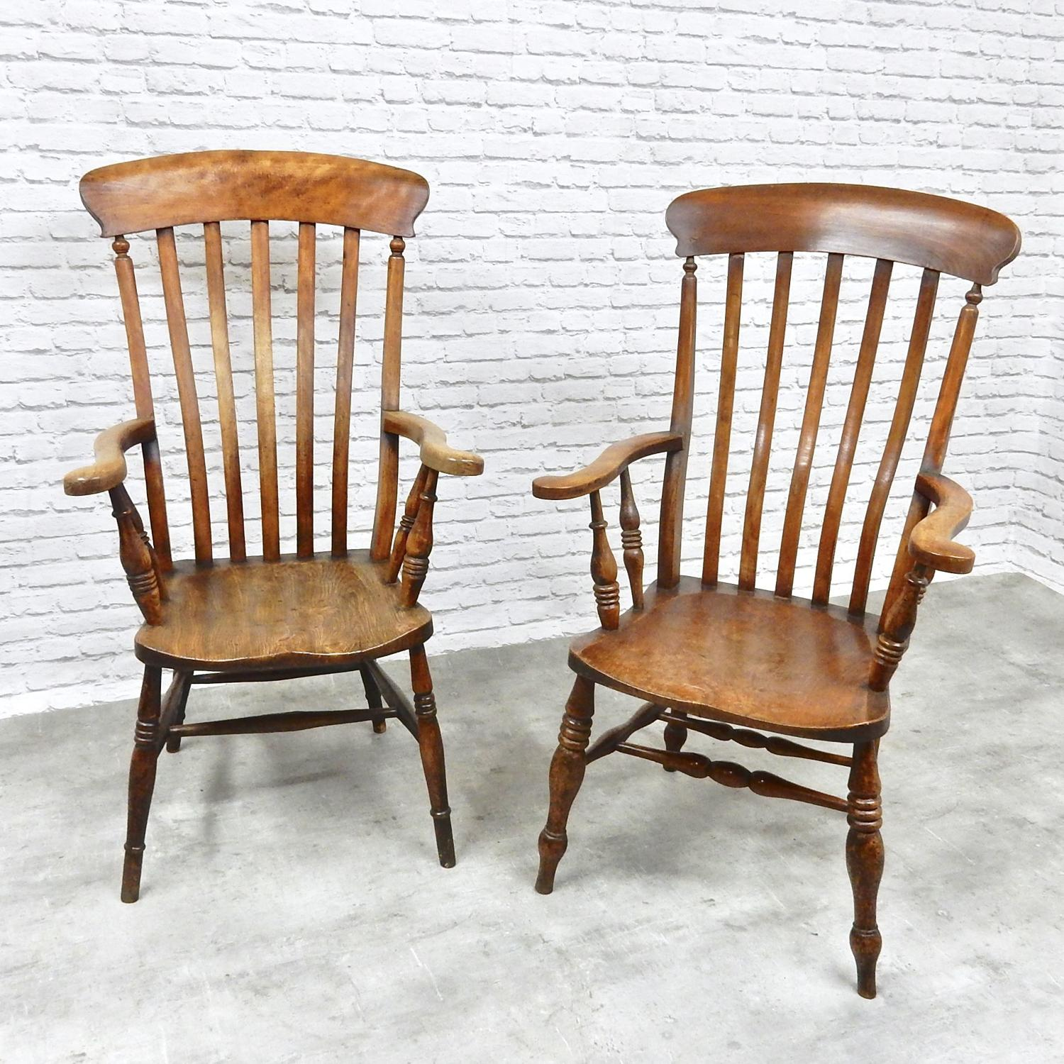 2x Large Windsor Armchairs