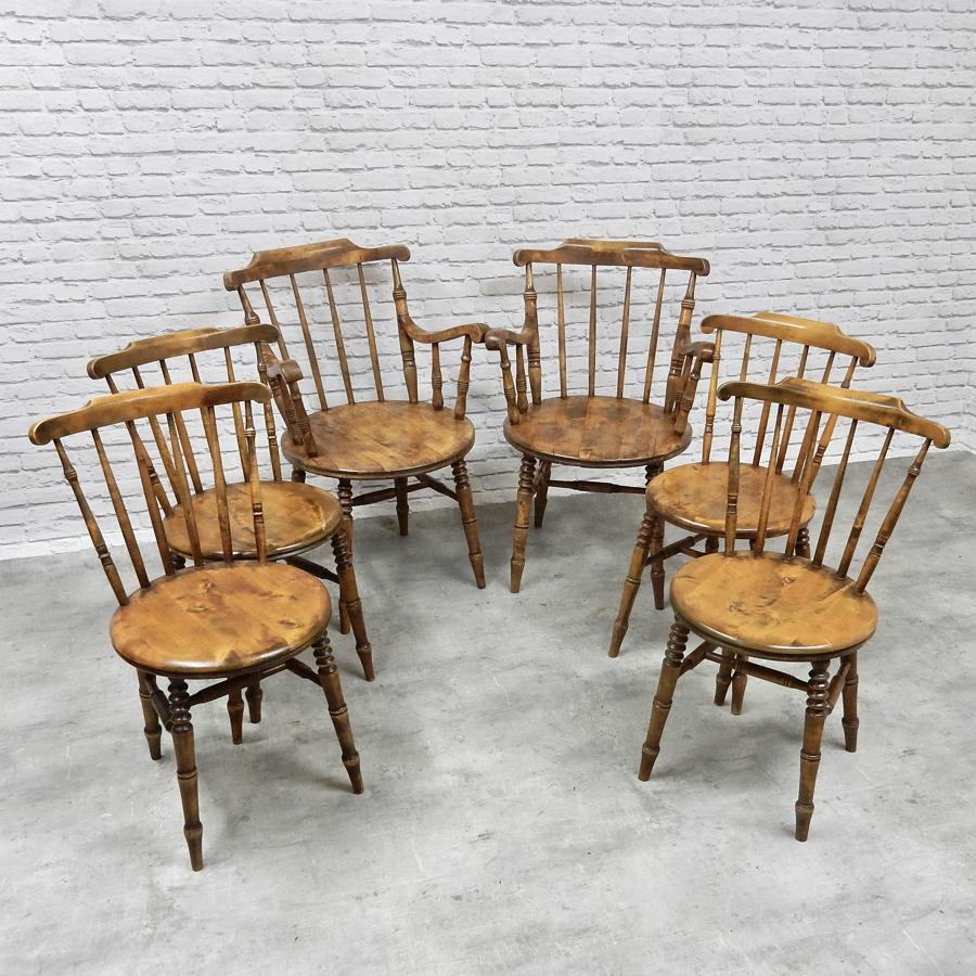 Swedish Kitchen Chairs by Ibex
