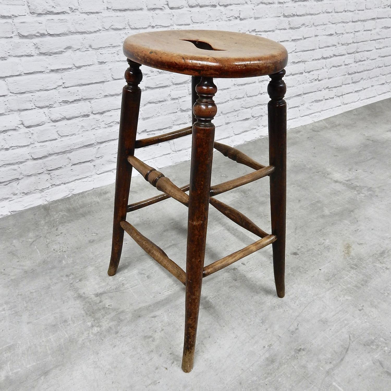 Tall Antique Bar Stool