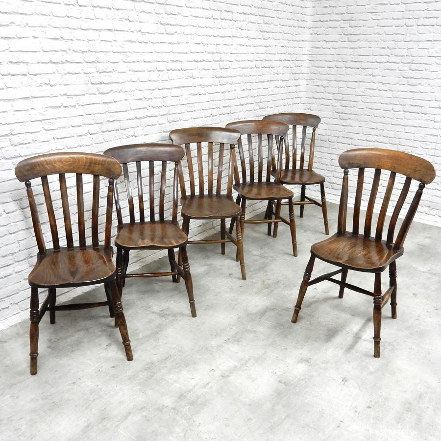 Set 6 Farmhouse Kitchen Chairs