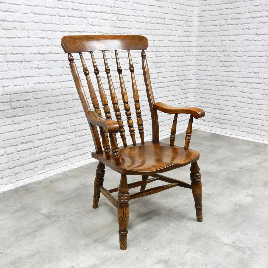 Large C19th Windsor Armchair
