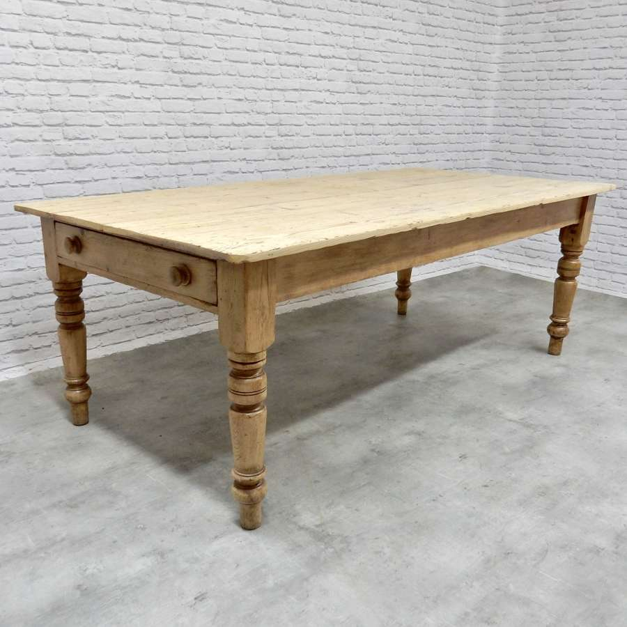Large Antique Farmhouse Kitchen Table