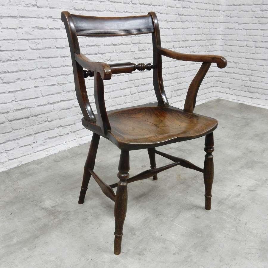Early Windsor Barback Armchair