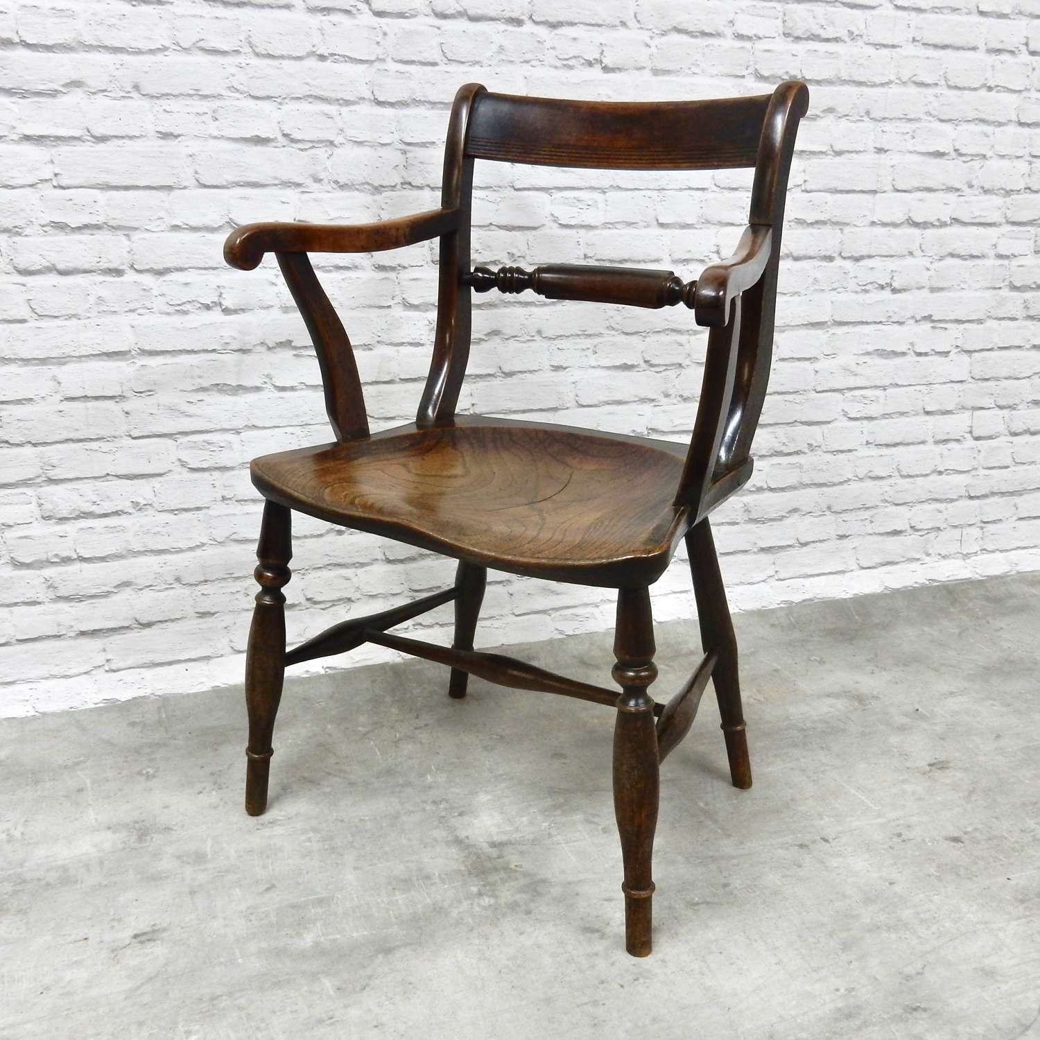 Early Windsor Barback Armchair