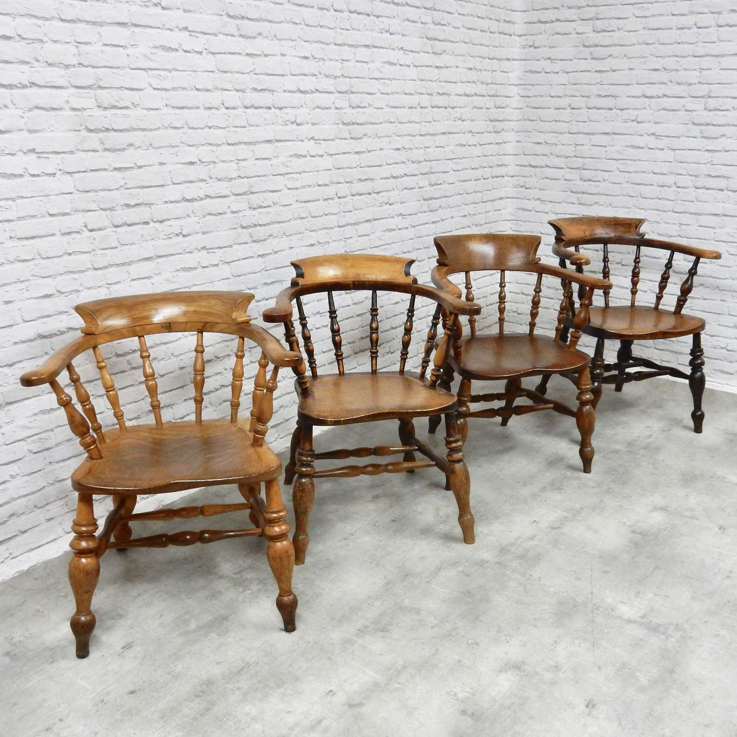 Group 4 Smoker's Bow Armchairs