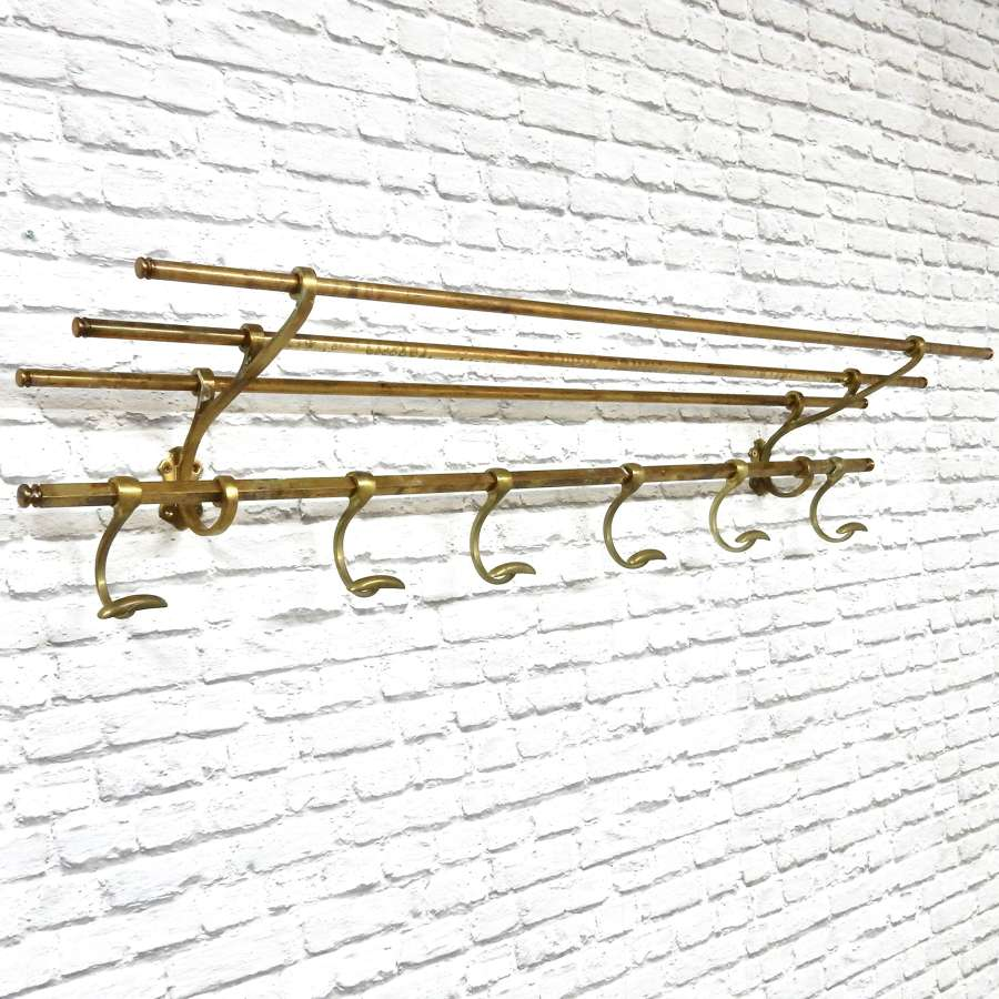 Brass Coat & Hat Rack