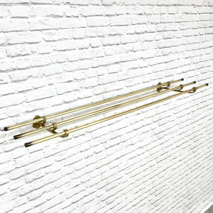Brass Luggage/Hat Rack