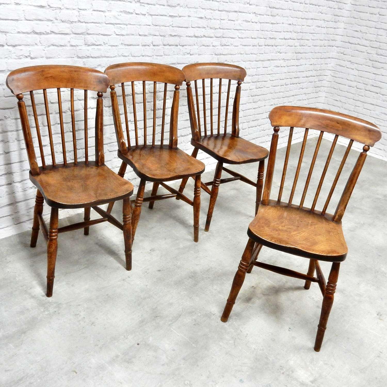 Set Victorian Kitchen Chairs