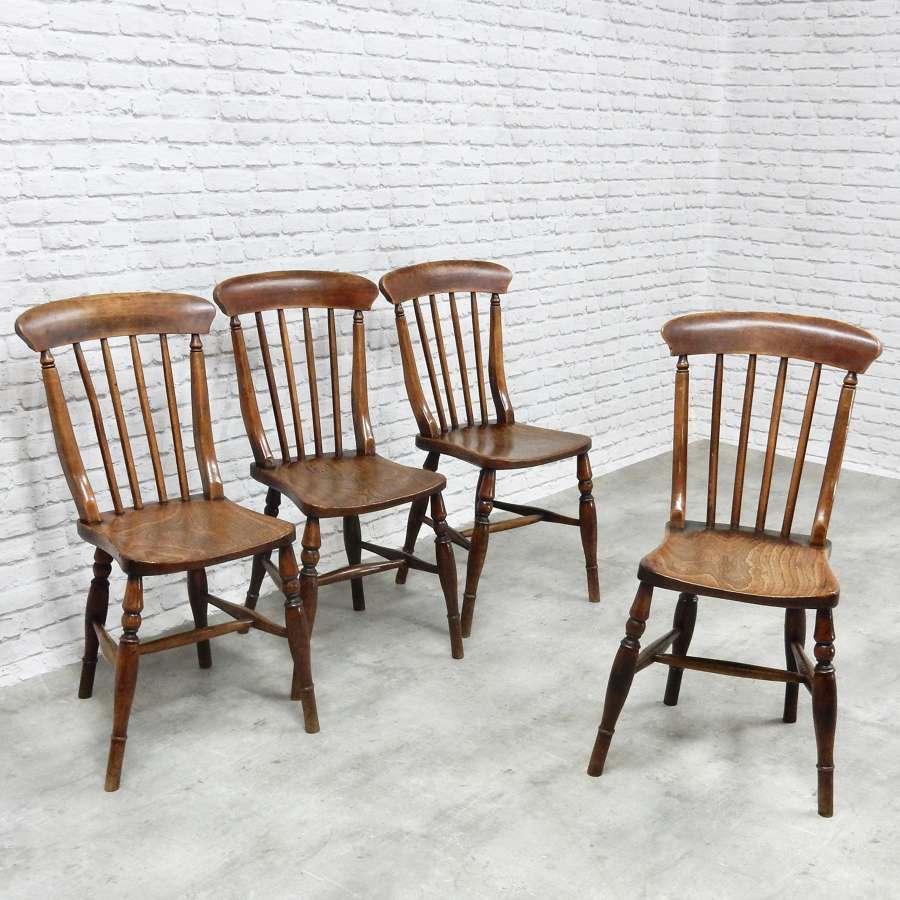 Set Windsor Stickback Kitchen Chairs