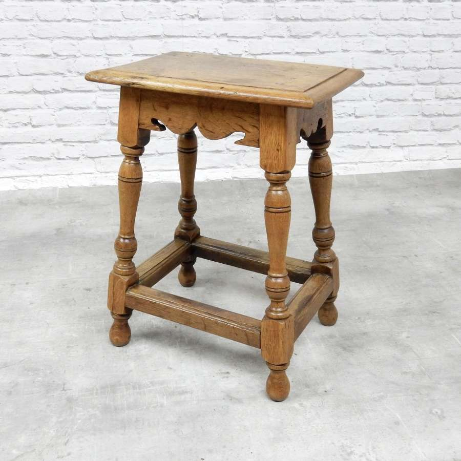 C19th Oak Joint Stool