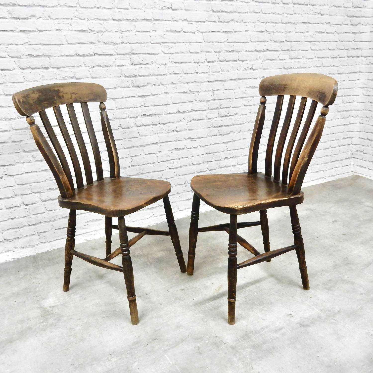 Antique Kitchen Chairs x2