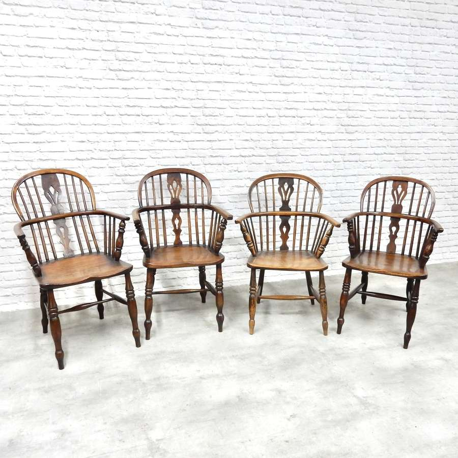 C19th Windsor Lowback Armchairs