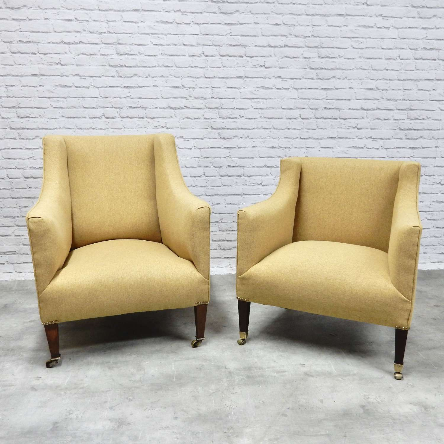 Two C19th Upholstered Armchairs