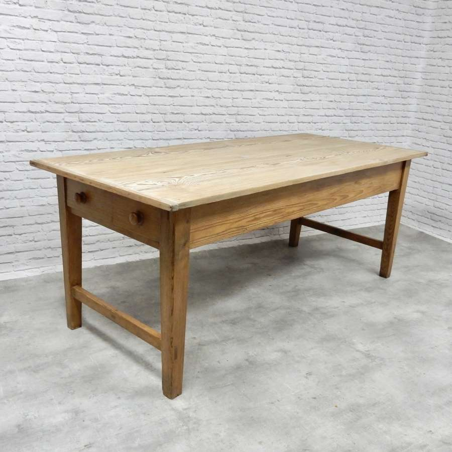 Large Farmhouse Pine Kitchen Table