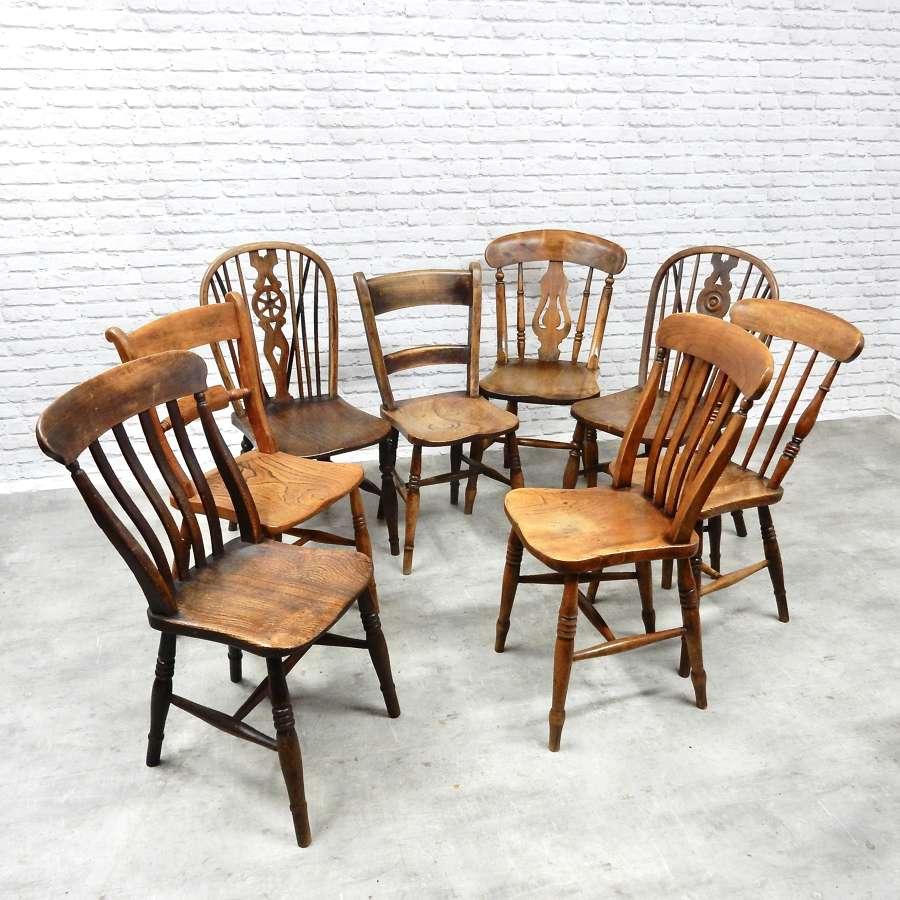 8x Windsor Kitchen Chairs