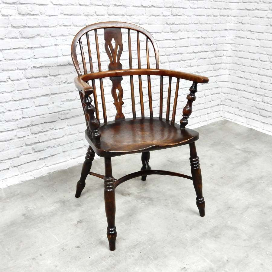 Antique Windsor Lowback Armchair