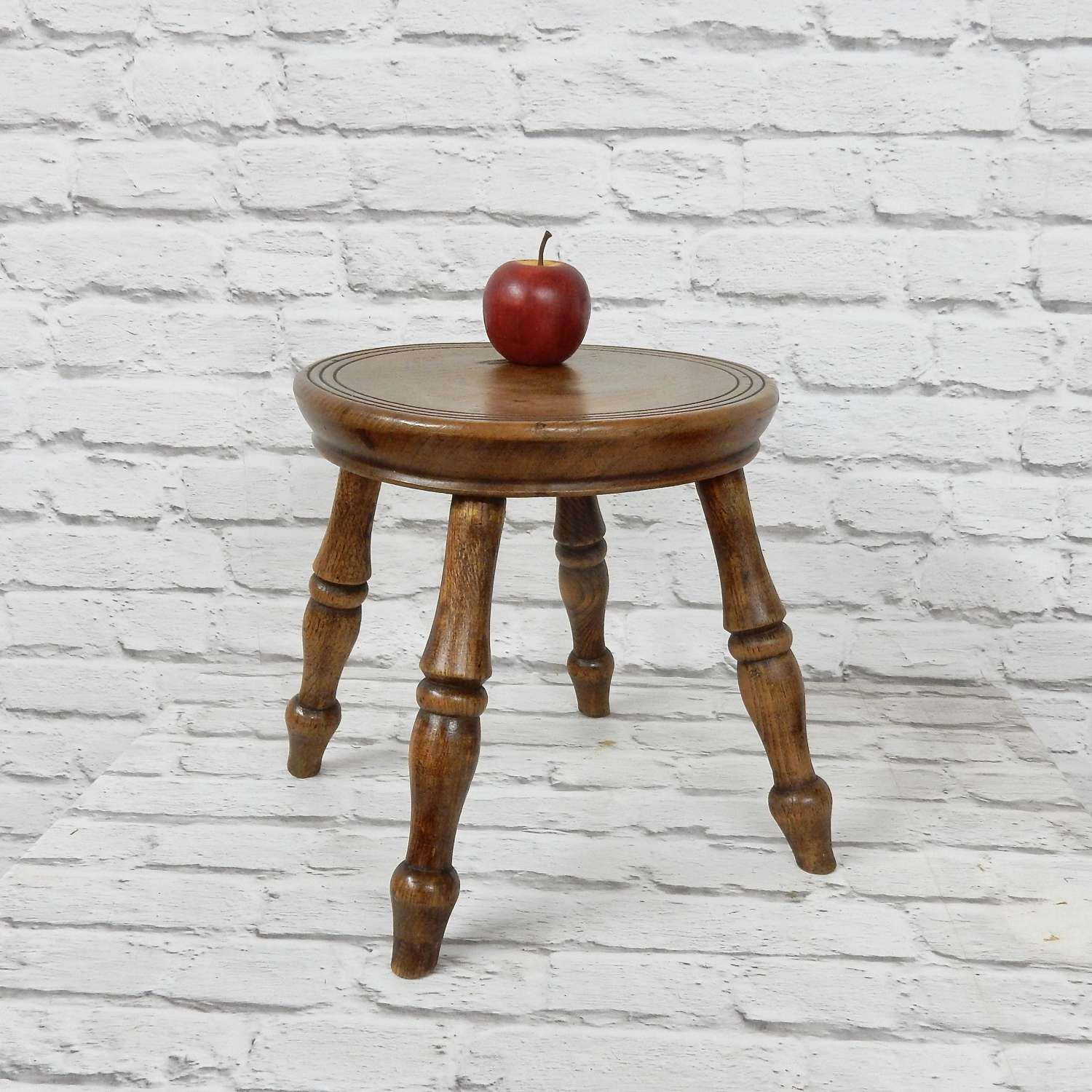 Small Antique Country Stool