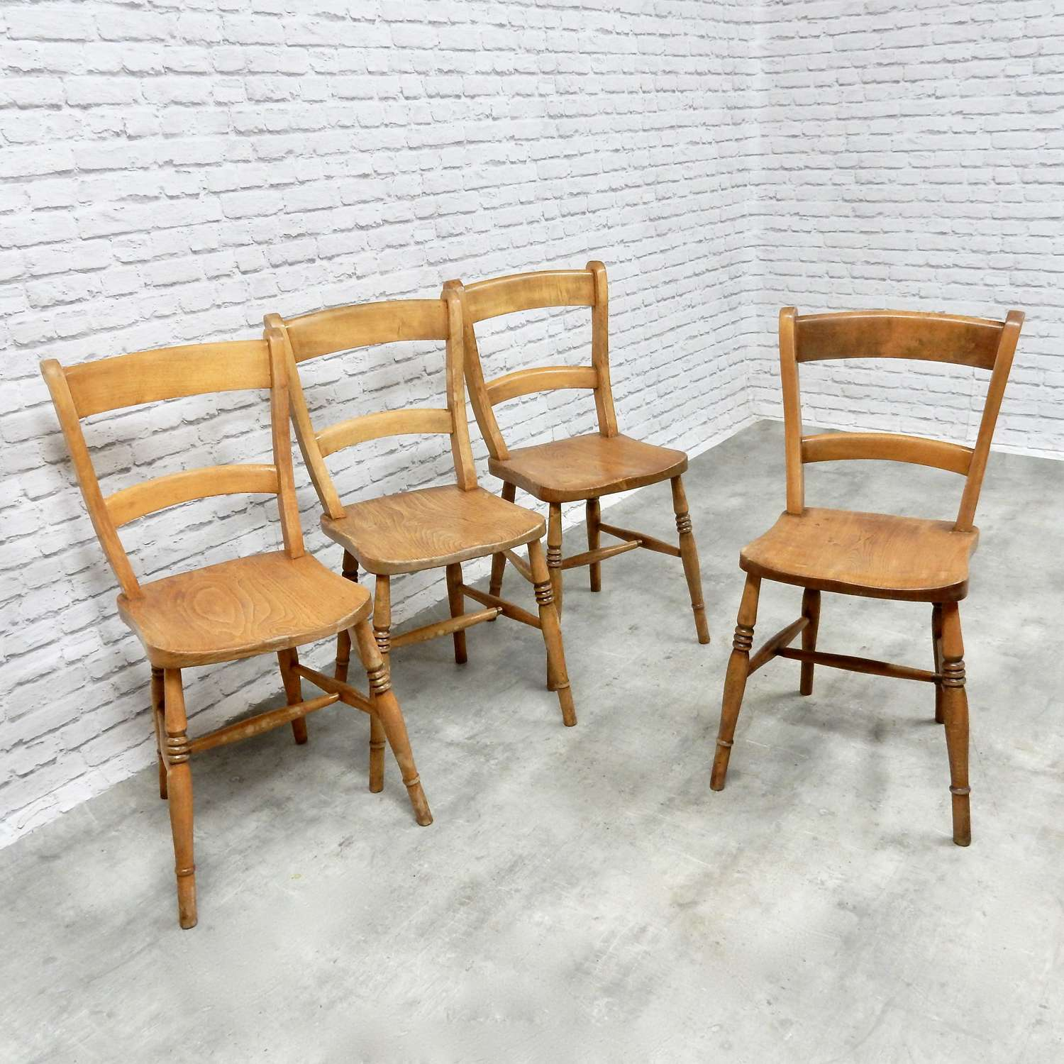 Set 4 Antique Kitchen Chairs