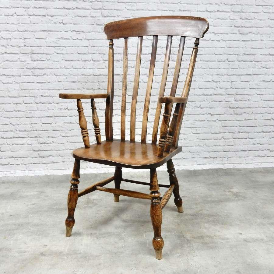 Large Windsor Lathback Armchair