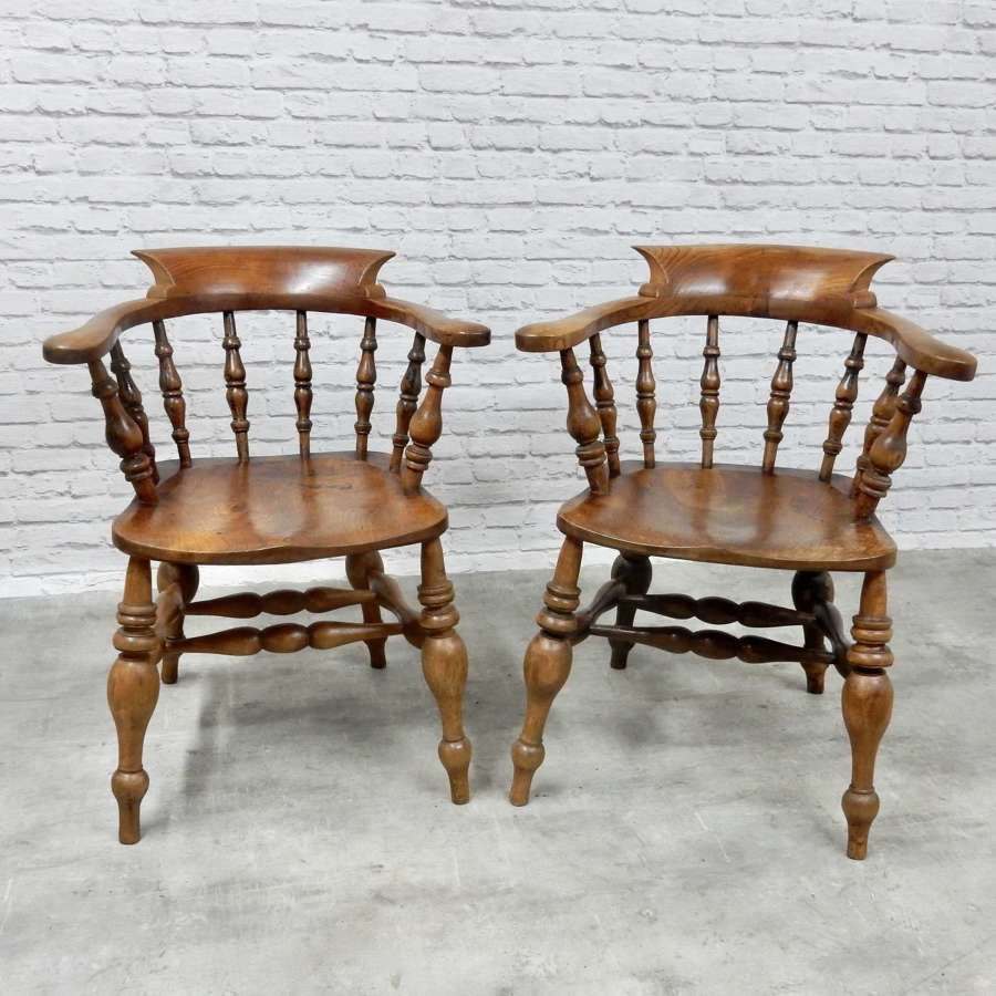 A Pair of Windsor Armchairs