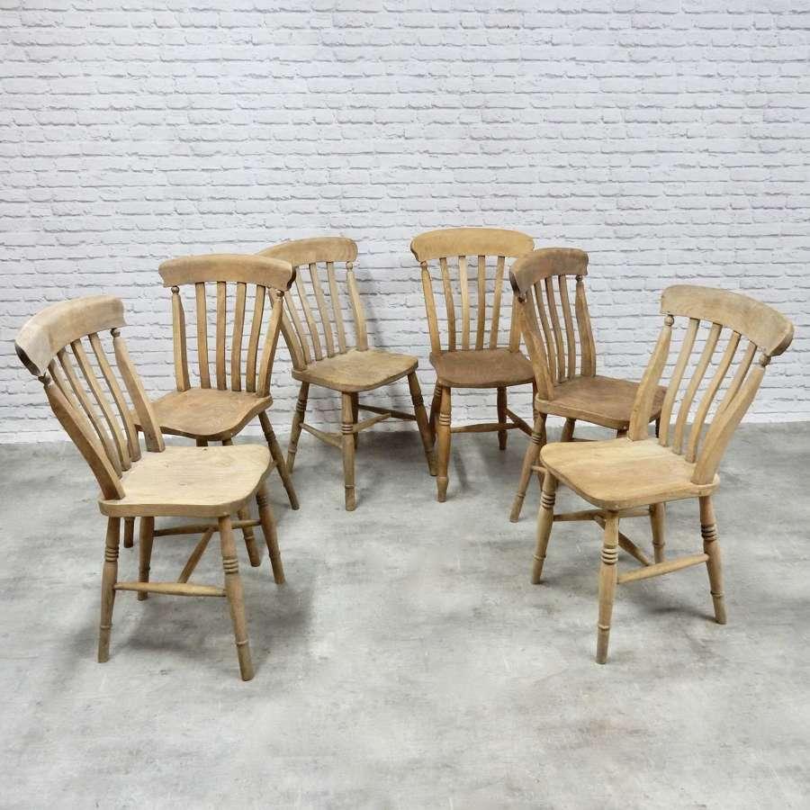 Lathback Windsor Chairs x6