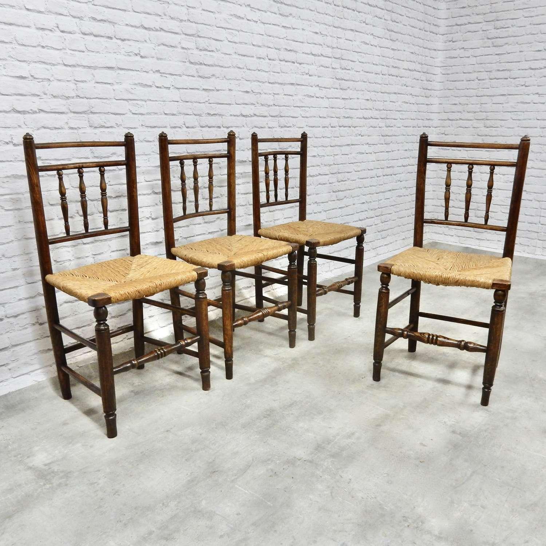 Rush Seated kitchen Chairs