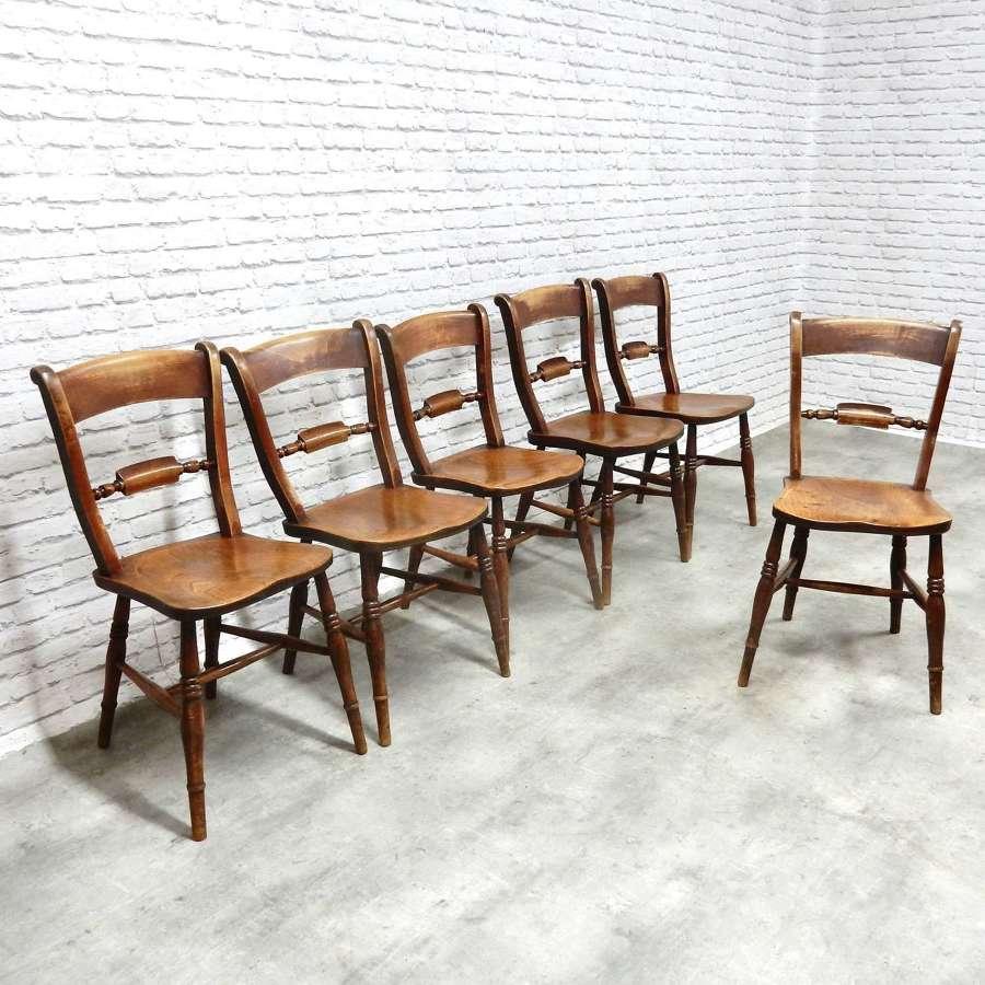 Set C19th Barback Windsor Chairs
