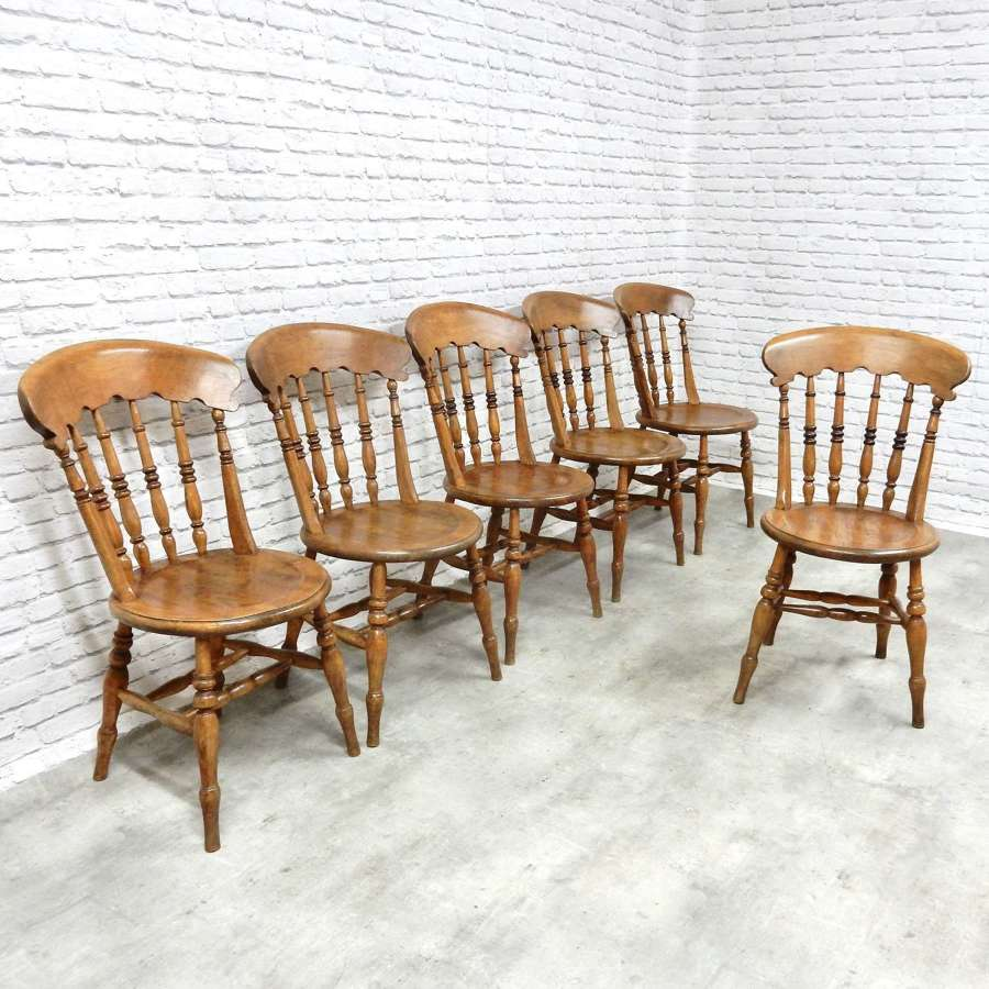 Set Penny Seat Windsor Kitchen Chairs