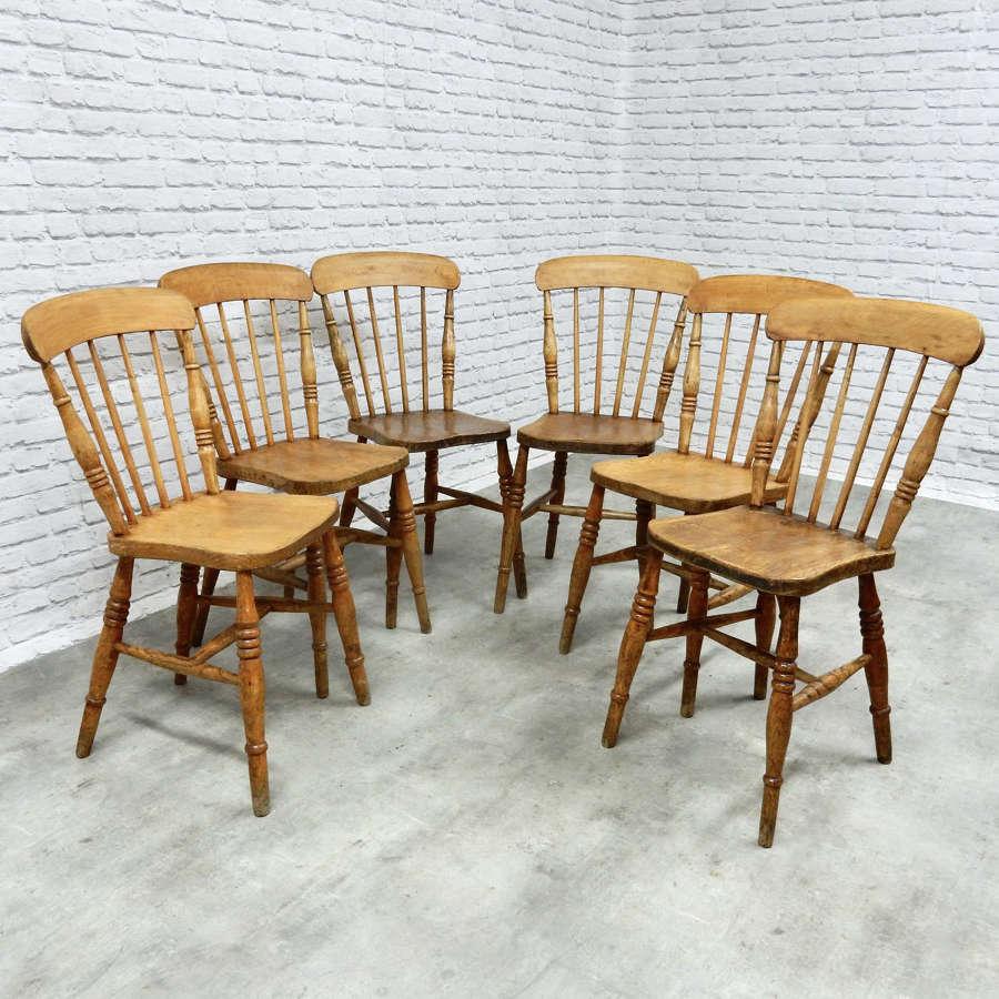 Set 6 Windsor Kitchen Chairs
