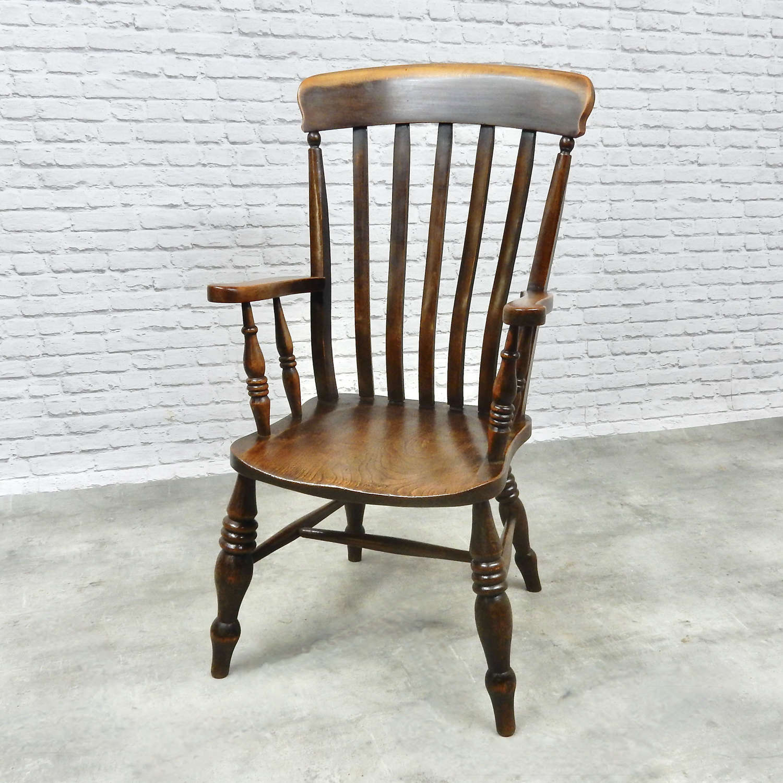 Large C19th Windsor Armchair
