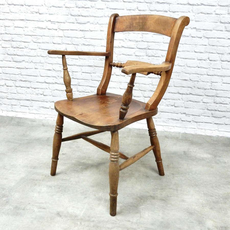 C19th Windsor Barback Armchair