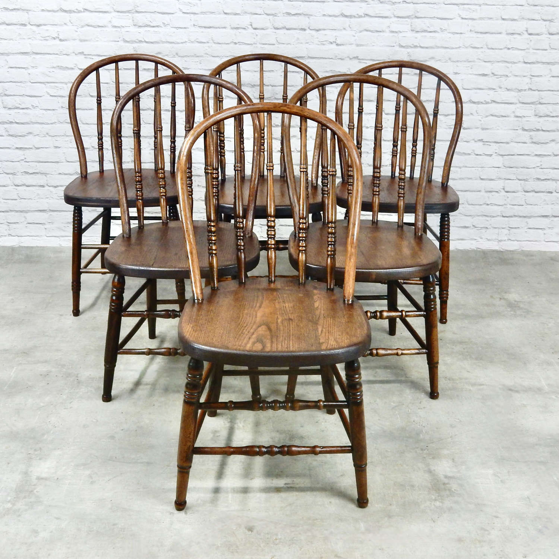 6x Windsor Kitchen Chairs