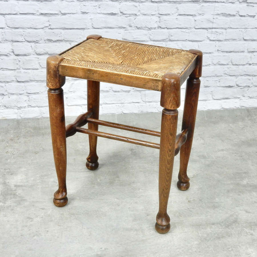 Rushed Antique Stool