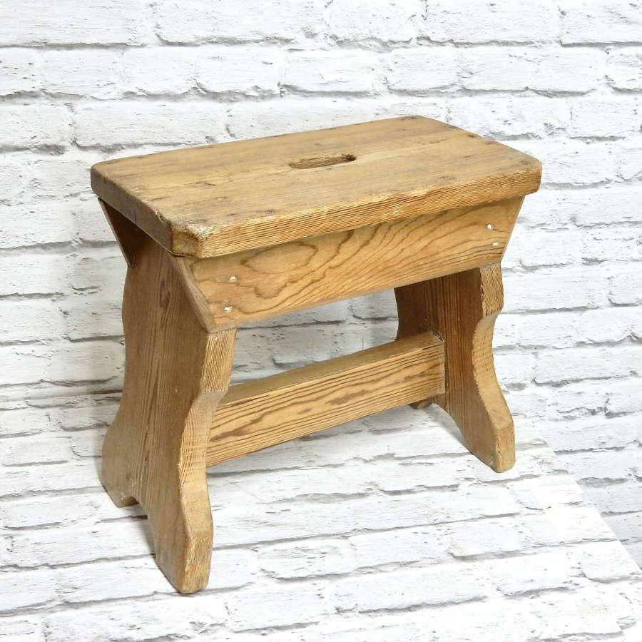 Antique Pine Stool