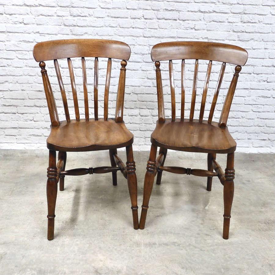 Pr Windsor Lathback Chairs