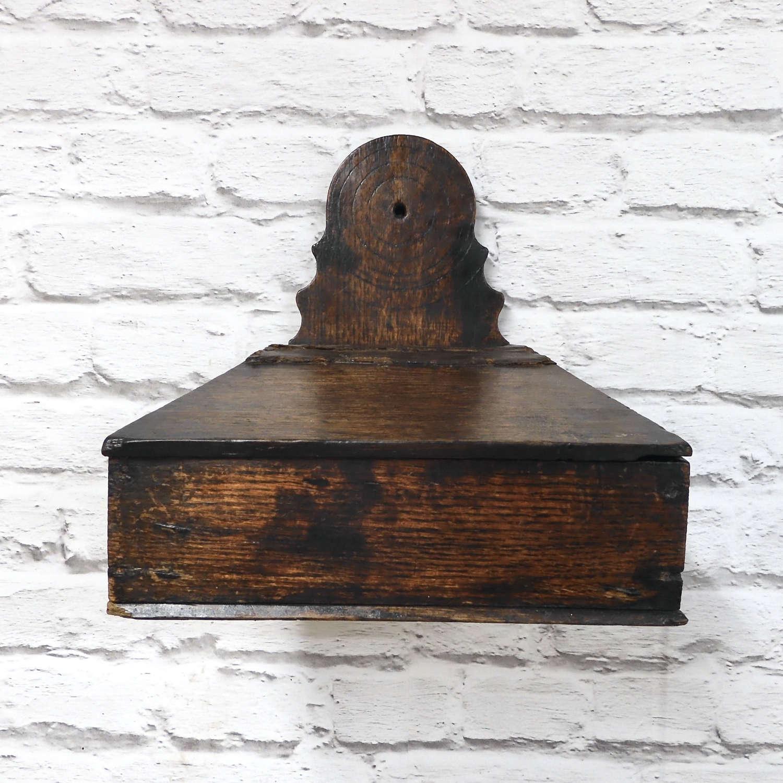 Georgian Oak Wall Box