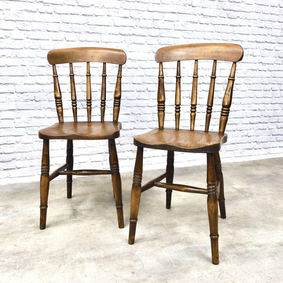 Pr Antique Windsor Spindleback Chairs