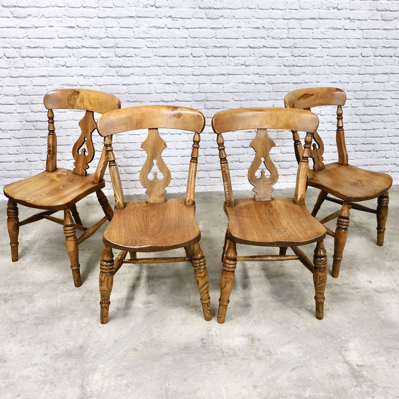 Set 4 Windsor Kitchen Chairs