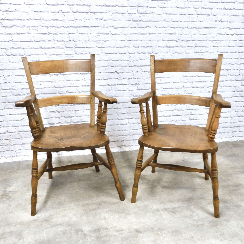 2x Windsor Barback Armchairs